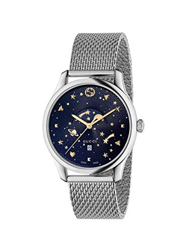 71f9a1928bc Gucci G-Timeless Blue Motifs Dial Mens Watch YA126328 – Shop New ...