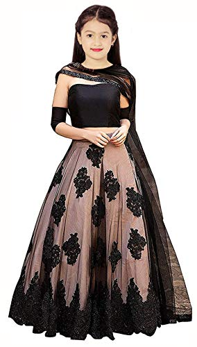 Radhe Creation Girls' Art Silk Lehenga Choli