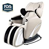 Real Relax Full Body Massage Chair,8 Point and Zero Gravity Shiatsu Massage Recliner, Foot Rest Extended with Heater-Black