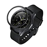 ANCOOL Compatible Samsung Galaxy Watch 42mm/Gear Sport Bezel Ring Adhesive Cover Anti Scratch Stainless Steel Protector Design for Galaxy Watch 42mm/Gear Sport -Black