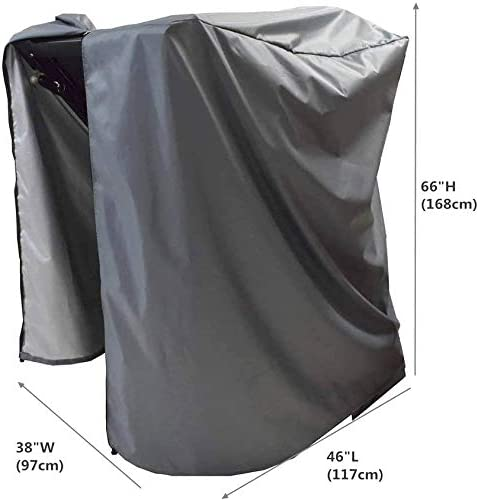 "Mini Lustrous Treadmill Cover, Folding Running Machine Protective Cover Dustproof Waterproof Cover for Indoor Or Outdoor Use, 36"" L x 36"" W x 60"" H,(Gray) 2"