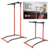 GoBeast Power Tower Pull up bar Dip Stand Portable Pull up Station Movable Exercise Equipment Instruction Manual and Storage Bag max user-weight 330 lbs