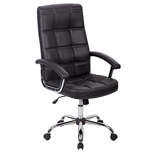 PU Leather Ergonomic Office Executive Computer Desk Task Office Chair