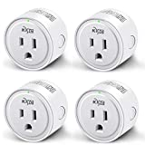 Smart Plug, KMC WIFI MiNi Outle Compatible with Alexa, Google Home & IFTTT, Smart Life, No Hub Required, Remote Control Your Home Appliances from Anywhere, ETL Certified(4 Pieces)