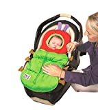 Eric Carle Infant Car Seat Cover, Car Seat Bunting Car Seat Footmuff, Infant Carrier Sleep Sack, Toddler Bundle Me, Baby Bunting Bag, Baby Stroller Sleeping Bag, Polyester, The Very Hungry Caterpillar