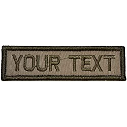 Customizable Text 1x3 Patch w/ Hook Fastener Morale Patch - Coyote Brown