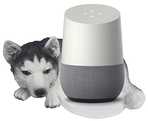 FitSand(TM Husky Dog Crafted Statue Speaker Stand Holder Guard Station for Google Home