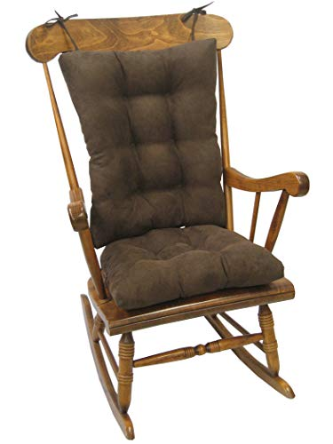 Klear Vu Twillo Overstuffed Rocking Chair Pad Set, Seat and Seatback Cushions, Chocolate