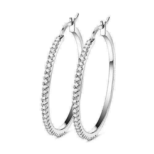 1ecfbdc8a Sterling Silver Large Hoops Earrings Zircon – Madams' Jewellery