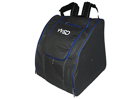 WSD Ski Boot Bag- Ski Gear Backpack For Boots New (Gray/Blue)