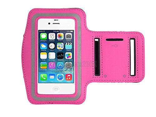 ULAK Sports Armband lightweight Exercise Arm Holder for Running, Fitness and Gym Workouts for Apple iPhone 4 4S (Pink)