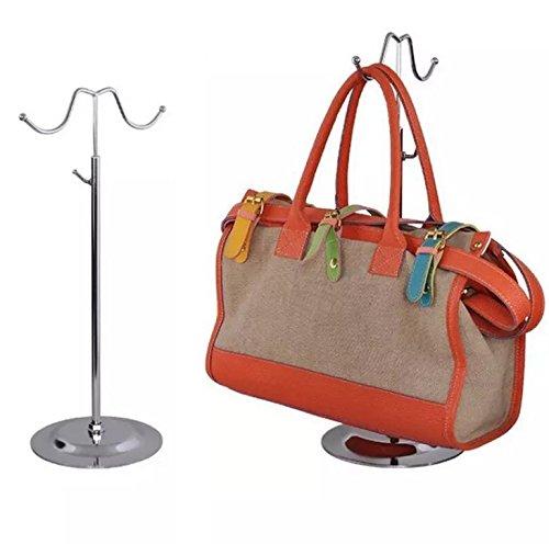 Metal Handbag Rack Women Bag Display Stand Double Hook Adjustable Stainless Steel Holder