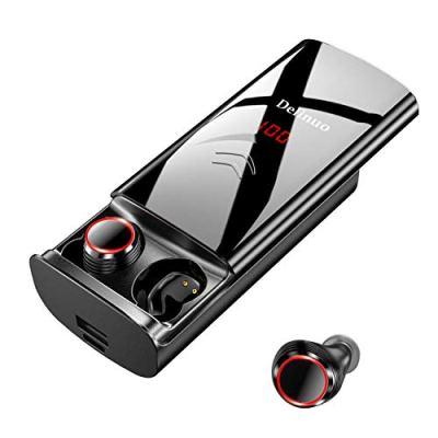 【 2019 Nuova chiusura a scorrimento 】 Delinuo cuffie bluetooth in ear auricolari senza fili, cuffie earbuds Sport Bluetooth 5.0 Headset con batteria 6000 mAh/IPX6/microfono/display digitale.