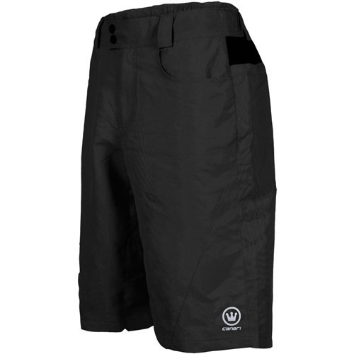 Canari Atlas Gel Baggy cycling Shorts, Black, Large