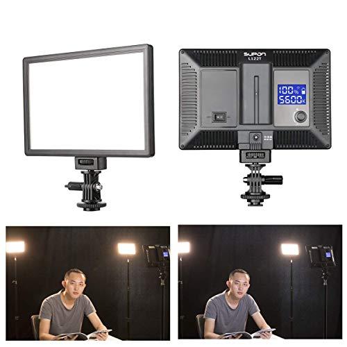 SUPON-LED-L122T-RA-CRI95-Super-Slim-LCD-Display-Lighting-PanelPortable-Dimmable-3300K-5600K-LED-Video-Light-Compatible-for-CanonNikonPentaxFujiSonyOlympus-DSLR-CamerasDV-Camcorder
