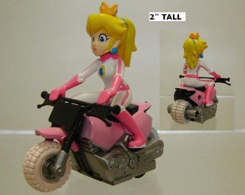 Amazon Com Mario Kart Wii Pull Back Racers Princess Peach On Bike Video Games