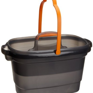 Casabella-Rectangular-Storage-Caddy-Graphite-4-gallons-62441Orange-and-Graphite