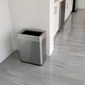 iTouchless-16-Gallon-Dual-Deodorizer-Open-Top-Trash-Can-Rectangular-Shape-Commercial-Grade-Stainless-Steel-61-Liter-Recycle-Bin-Silver