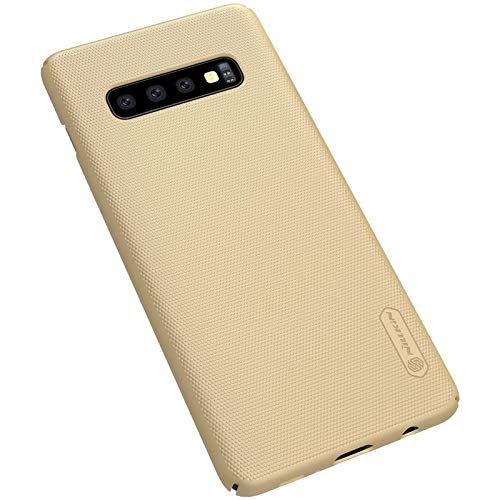 """41pxxjG4Y7L - Nillkin Case for Samsung Galaxy S10 Plus (6.4"""" Inch) Super Frosted Hard Back Cover Hard PC Gold Color"""
