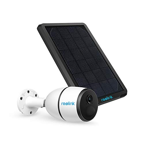 3G/4G LTE Outdoor Solar-Powered Security Camera Wirefree Battery Camera System, 1080p HD Night Vision, 2-Way Audio, PIR Motion Sensor, SD Socket and Cloud Reolink Go+Solar Panel