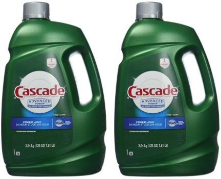 Cascade Advanced Power Liquid Machine Dishwasher Detergent with Dawn, 125-Fl Plastic Bottle (125 Fl Oz) -2 Pack