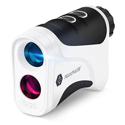 PEAKPULSE 6Pro Golf Laser Rangefinder with Slope-Switch Technology, PinSeeker with JOLT Technology and Fast Focus System, Perfect for Choosing The Right Club. 500 Yard Range, 6X Magnification.