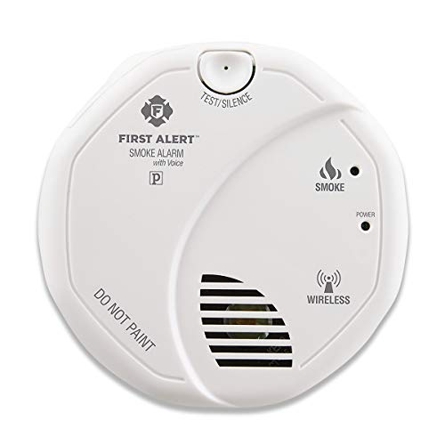 First Alert Smoke Detector Alarm | Battery Powered with Wireless Interconnect | 2-Pack, SA511CN2-3ST