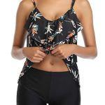 Aidotop Costume da Bagno a Due Pezzi Sexy Donna Tankini Canottiera Pantaloncino da Bagno Costume per Mare Spiaggia…