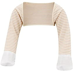 ScratchSleeves | Little Boys' Stay-On Scratch Mitts Stripes | Cappuccino and Cream | 3 to 4 Years