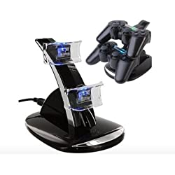 mondpalast Dual Docking Station Base Charging Dock Cradle Stand Holder for Sony Playstation 4 dualshock 4 PS4 ps4 wireless controller gamepad joypad
