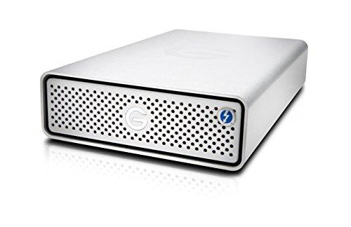 G-Technology G-Drive with Thunderbolt 3 and USB-C Desktop External Hard Drive, Silver