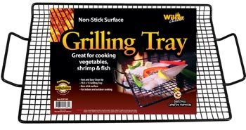 Vegetable Grilling Tray 1 X Non-stick Grilling Tray (Great for Vegetables, Shrimp & Fish)