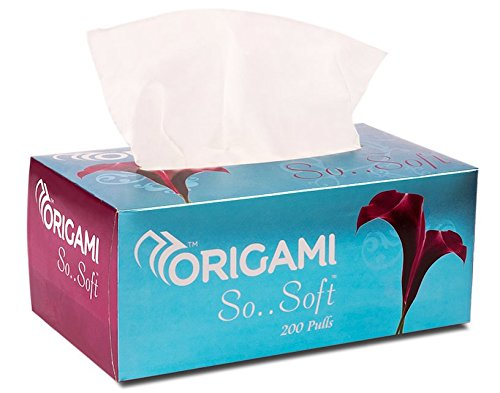 Origami So Soft 2 Ply Face Tissue Box - 200 Pulls (Pack of 3) 2