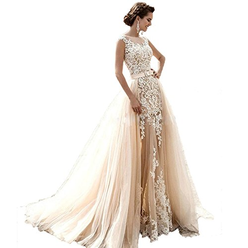 41qB%2BpKa%2BTL Sexy and luxury mermaid tulle beach garden church wedding dress The dress is like the photos, it's gorgeous and can fit everyone. Free Custom Sizes and Color Changes are Avaliable,just need to email us your requirement!