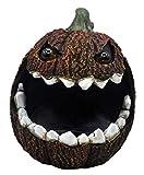 Moonrays 97027 Solar Hungry Rotten Jack-O-Lantern, Weathered Orange