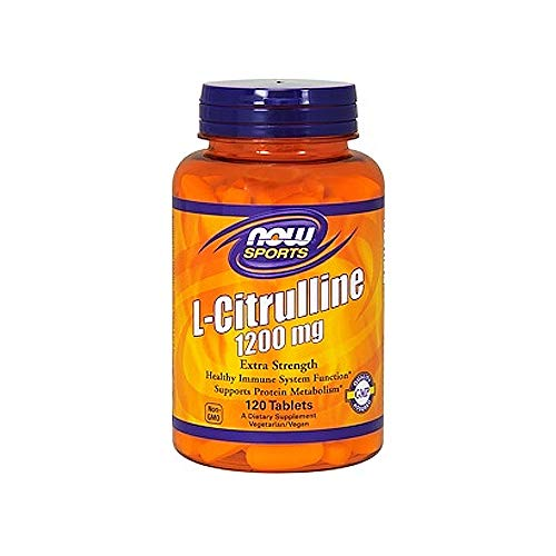 NOW Sports, L-Citrulline, Extra Strength 1200 mg, 120 Tablets