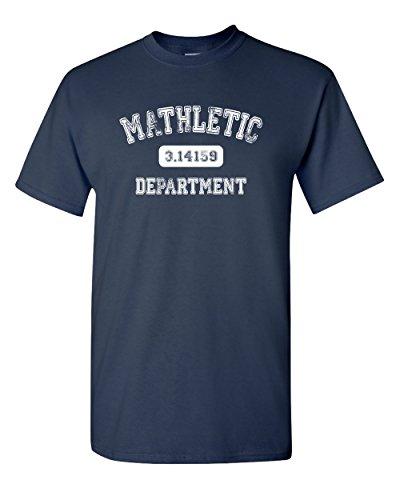 Mathletic Funny Pi Math 3.14 Nerd Geek Number Humor Calculus Graphic Tee Pun Men's Adult T-Shirt (3XL) Navy Blue