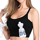 Hands Free Pumping & Nursing Bra, Lupantte X Structure Breastfeeding Bra for Holding Breast Pumps Like Spectra, Medela, Lansinoh, Philips Avent, Ameda, Bellababy,etc.(X-Large)
