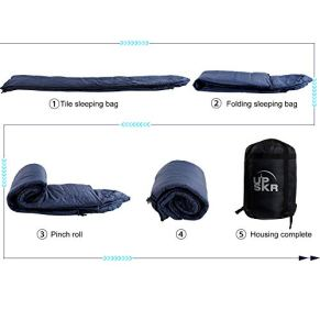 UPSKR-Sleeping-Bag-Lightweight-Waterproof-for-Adults-Kids-Cold-Weather-4-Season-Rectangular-Sleeping-Bags-Great-for-Indoor-Outdoor-Use-Hiking-Backpacking-Camping-Traveling-with-Compression-Sack