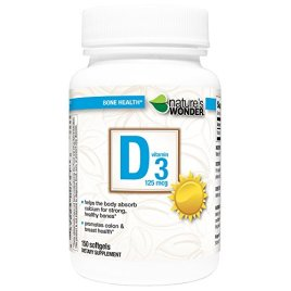 Nature's Wonder Vitamin D3 125mcg Tablets