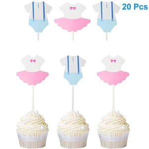Dusenly 20 x Gender Reveal Cupcake Toppers Boy or Girl Baby Shower Party Question Mark Cake Topper Decoration Supplies 41qL4fVORrL