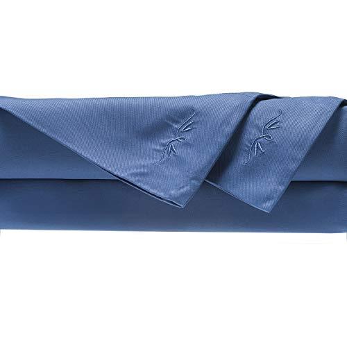 BedVoyage 100% Rayon/Viscose from Bamboo Cal King Sheet Set in Indigo