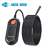5.0MP Wireless Endoscope, DEPSTECH HD Inspection Camera IP67 Waterproof Zoomable WiFi Borescope Snake Camera with Semi-Rigid Cable Torch LED Light for Android & iOS Smart Phone & Tablet-16.5Ft