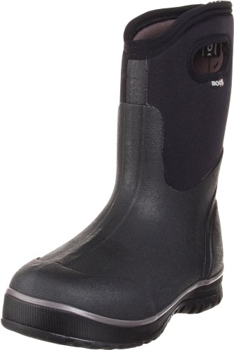 Bogs Men's Ultra Mid Insulated Waterproof Work Rain Boot, Black, 7 D(M) US