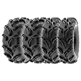 SunF Mud Trail Replacement ATV UTV 6 Ply Tires 27x9-14 & 27x11-14 Tubeless A048, [Set of 4]