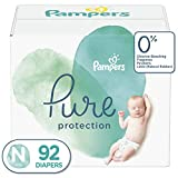 Diapers Newborn / Size 0 (< 10 lb), 92 Count - Pampers Pure Disposable Baby Diapers, Hypoallergenic and Unscented Protection, Giant Pack