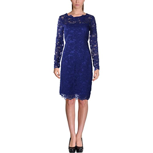 41qSKCmLS7L Nicole Miller Size Chart Slimming lace sheath dress is perfect for all occasions. Scalloped bateau neckline.