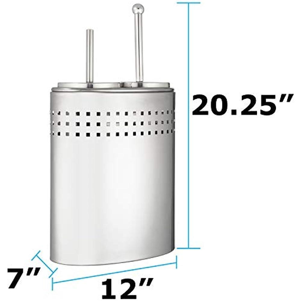 Toilet Brush Plunger Set Holder, Modern Chrome Bathroom ...