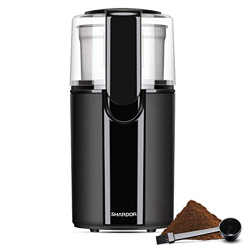SHARDOR Coffee Grinder Electric, Removable Stainless Steel Bowl, Black.