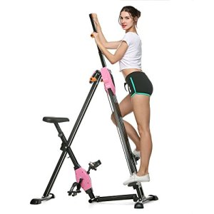 b7d670e6ea Asatr Vertical Climber Folding Gym Exercise Fitness Machine Stepper Exercise  Bike for Home Body Trainer